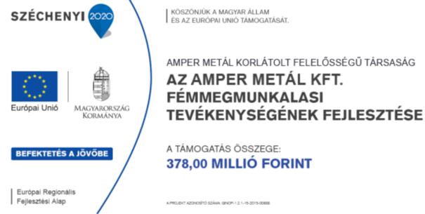 Amper Metal Kft. GINOP-2015-00666